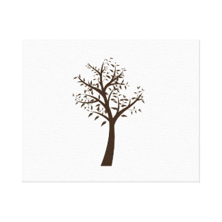 brown tree simple design eco.png canvas prints