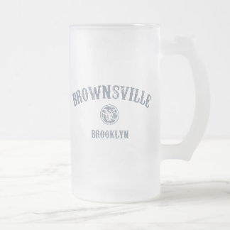 Brownsville Frosted Glass Mug
