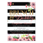 Brunch & Bubbly Glitter Black White Bridal Shower 13 Cm X 18 Cm Invitation Card