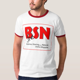 BSN T-shirt, logo front, slogan and URL on back. T-shirts