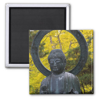 Budda Statue in the Japanese Gardens Golden Square Magnet