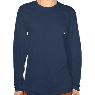 Buddy Manatee Navy Long Lady's T Shirt