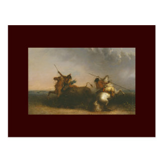 Buffalo Hunt by Alfred Jacob Miller Postcard
