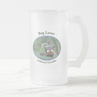 Bug Lover Saddleback Caterpillar Frosted Glass Mug