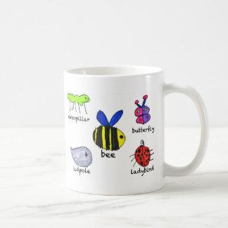 bug. mug. basic white mug
