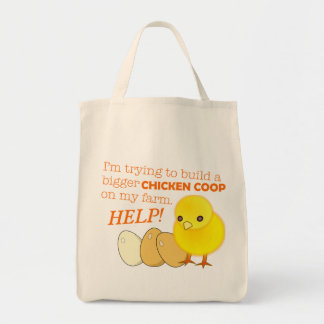 """Building a Bigger Chicken Coop"" Game Tote Bag"