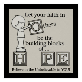 Building Blocks of HOPE (with border) Poster