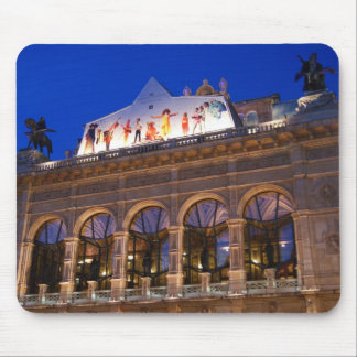 Building of Opera in Vienna city in Austria Mouse Pad