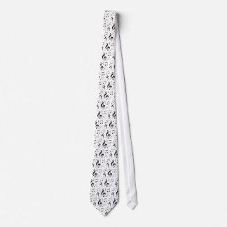 Bulging Music Notes Tie