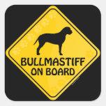 Bullmastiff Xing Square Sticker