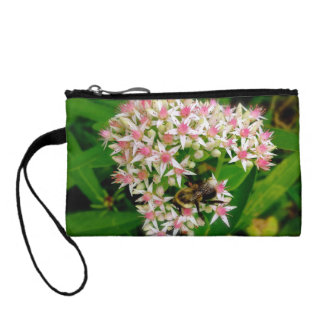 Bumble Bee Floral Wristlet