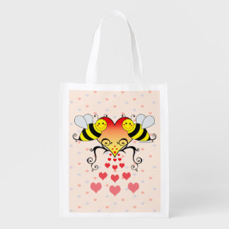 Bumble Bees Love Hearts