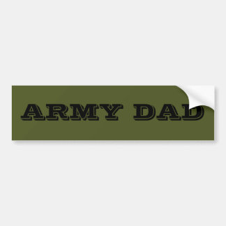 Bumper Sticker Army Dad