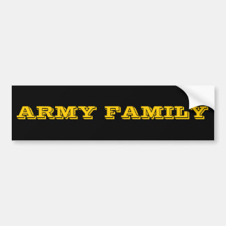 Bumper Sticker Army Family