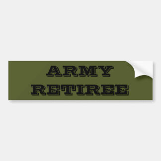 Bumper Sticker Army Retiree