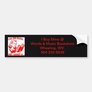 bumper sticker books bookstore wheeling wv.