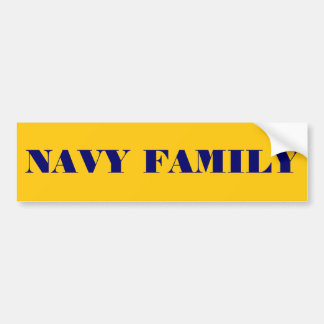 Bumper Sticker Navy Family