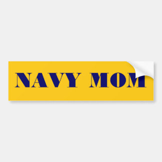 Bumper Sticker Navy Mom