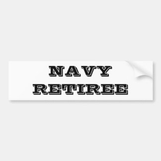 Bumper Sticker Navy Retiree