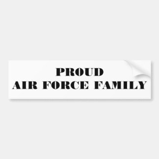 Bumper Sticker Proud Air Force Family