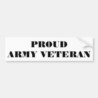 Bumper Sticker Proud Army Veteran