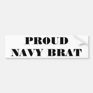 Bumper Sticker Proud Navy Brat