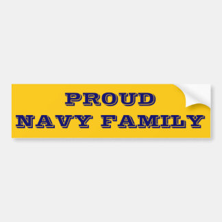 Bumper Sticker Proud Navy Family