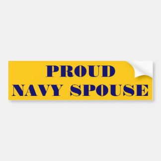 Bumper Sticker Proud Navy Spouse