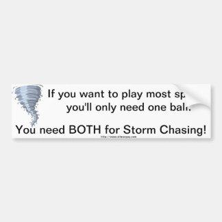 Bumper Sticker Storm Chasing balls