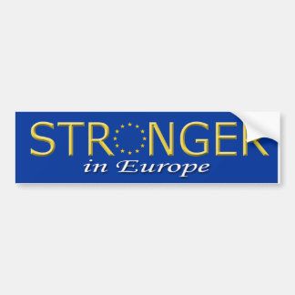 Bumper Sticker Stronger in Europe