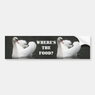 Bumper Sticker, Swan Swimming Bumper Sticker