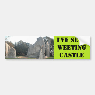 Bumper Sticker Weeting Castle Weeting Norfolk UK