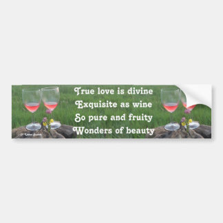 Bumper Sticker Wine Poem By Ladee Basset