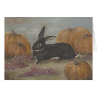 Bunny Thanksgiving Card