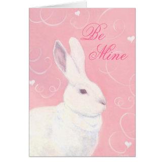 Bunny Valentine Card