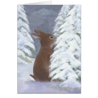 Bunny Winter Card