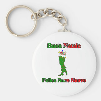 Buon Natale e Felice Anno Nuovo... Basic Round Button Key Ring