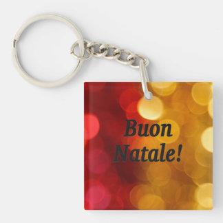 Buon Natale! Merry Christmas in Italian bf Single-Sided Square Acrylic Key Ring