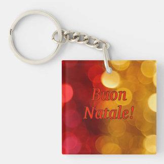 Buon Natale! Merry Christmas in Italian rf Single-Sided Square Acrylic Key Ring