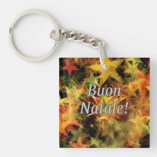 Buon Natale! Merry Christmas in Italian wf Single-Sided Square Acrylic Key Ring