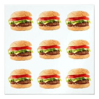 Burgers - SRF 13 Cm X 13 Cm Square Invitation Card