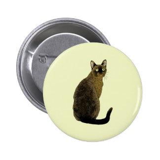 Burmese Cat 6 Cm Round Badge