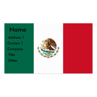 Business Card with Flag of Mexico