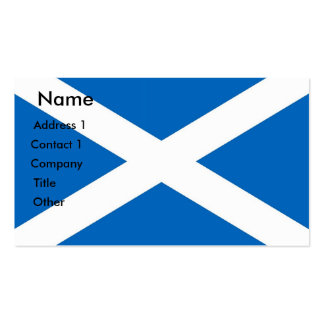 Business Card with Flag of Scotland