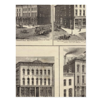 Businesses in East Des Moines and Des Moines, Iowa Postcard