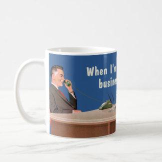 businessman voice basic white mug