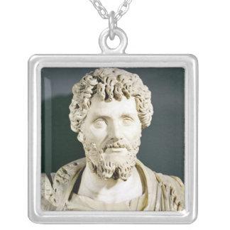 Bust of Emperor Septimus Severus Square Pendant Necklace