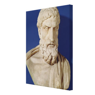 Bust of Epicurus Stretched Canvas Print