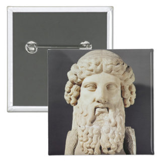 Bust of Plato 15 Cm Square Badge