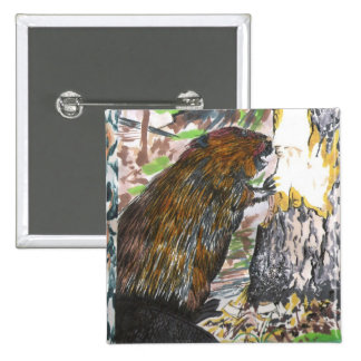 Busy Beaver 15 Cm Square Badge